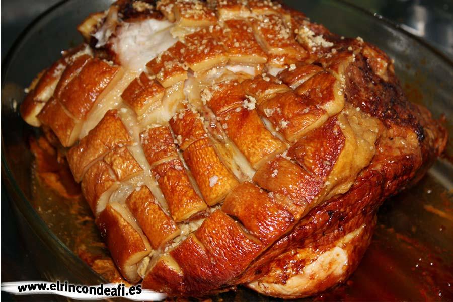 Pata de cerdo asada
