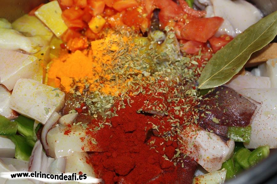 Pota en salsa: preparación