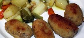 Croquetas de carne, presentación