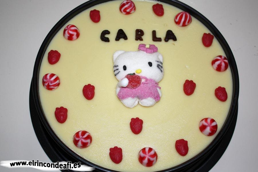 Otra propuesta de decoración para la tarta de tres chocolates