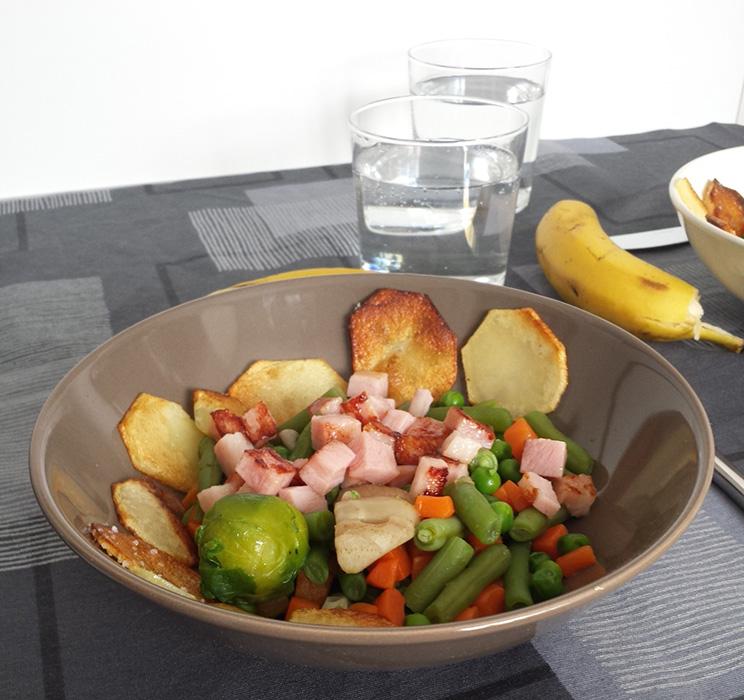Menestra de verduras de Pedro y Nisa, de Las Palmas