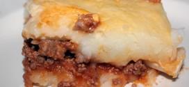 Pastel de carne con puré de papas