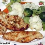 Pechuga de pollo a la plancha con verduras