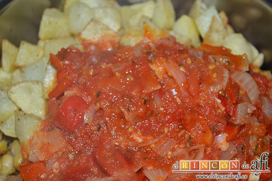 Ropavieja, se añaden las papas fritas