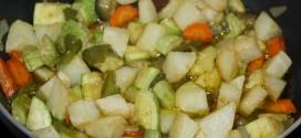 Verduras con papas y curry