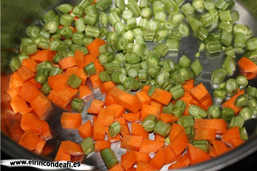 Ensaladilla rusa, hervir las verduras