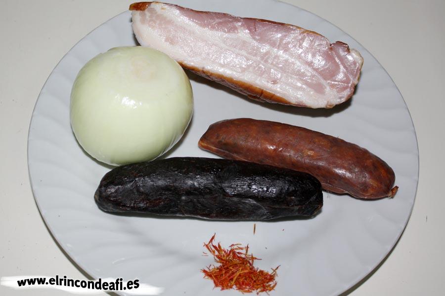 Fabada, ingredientes
