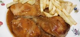 Pollo con rabo de buey