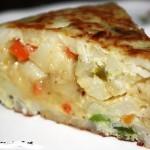 Tortilla de verduras con canela