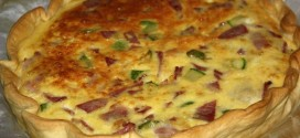 Quiche con bacon y calabacinos