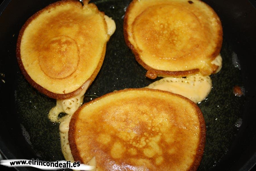 Tortitas de calabaza, freír