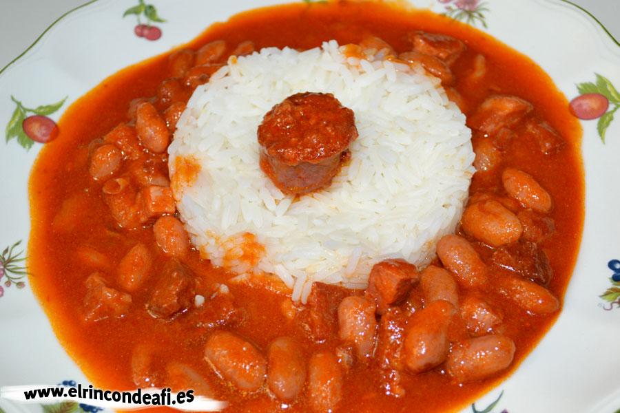 Guiso de judías con tomate