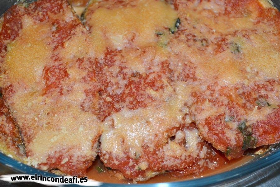 Parmigiana de berenjenas, añadir una capa más