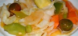 Verduras con salsa agridulce salteadas al wok