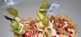 Melón relleno de frutas