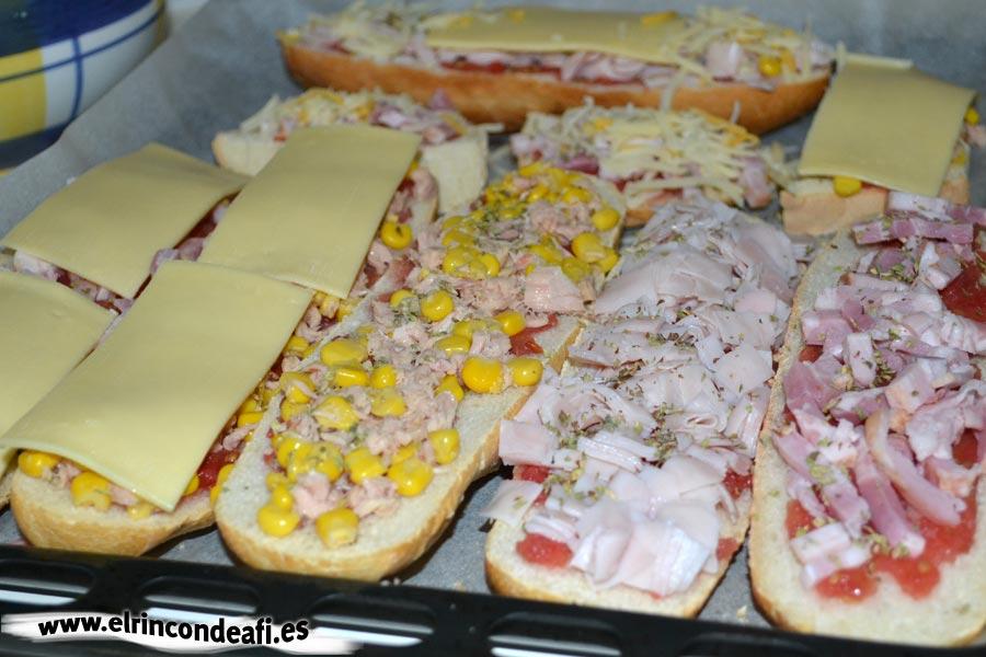 Pan pizza, terminar de montarlos