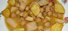 Chocos con garbanzos