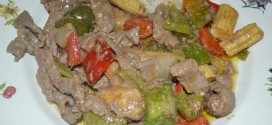 Ternera con salsa de ostras al wok