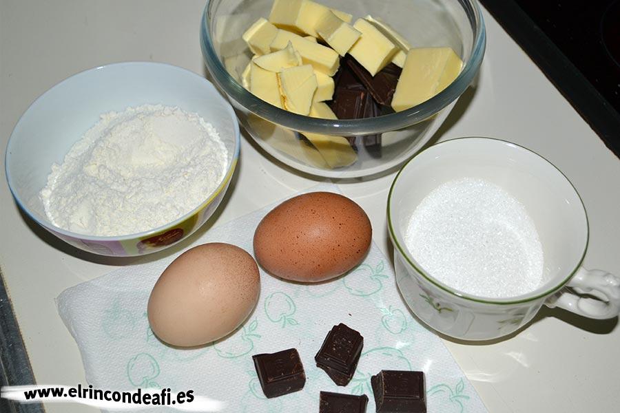 Coulant rápido en microondas, preparar los ingredientes