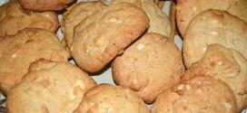 Galletas con chocolate blanco y nueces de macadamia