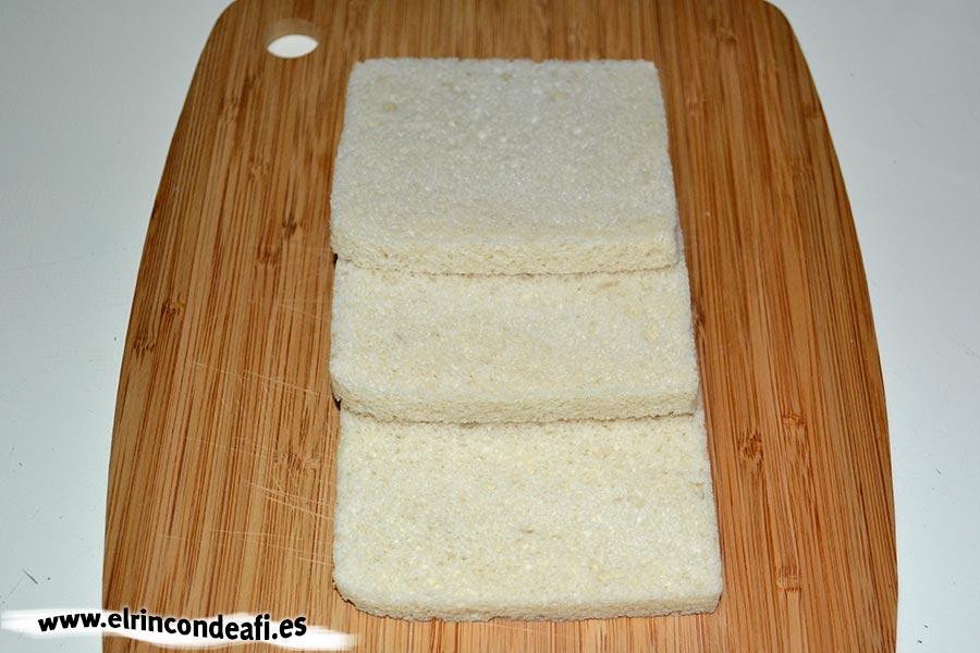 Rollos de chocolate, preparar el pan de molde