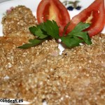 Filete de cerdo empanado con sésamo