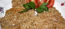 Filete de lomo de cerdo empanado con sésamo