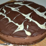 Tarta de chocolate y queso crema