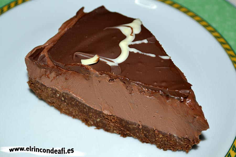 Tarta de chocolate y queso crema, sugerencia de presentación
