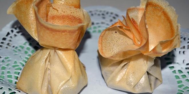 Paquetitos de chocolate y nueces