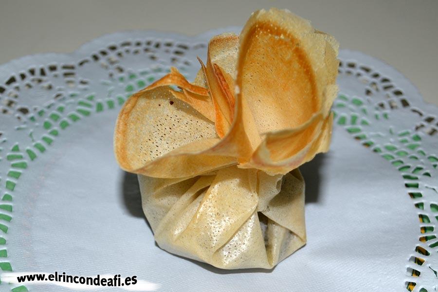 Paquetitos de chocolate y nueces, sugerencia de presentación