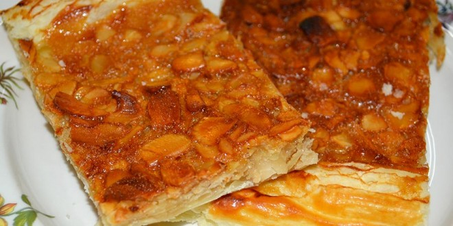 Hojaldre con almendras y miel