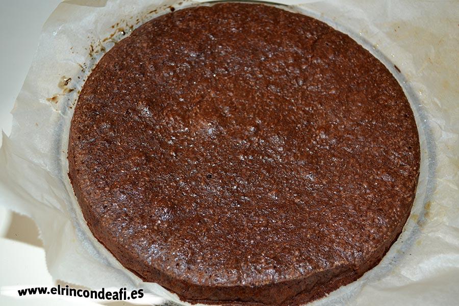 Tarta de chocolate cremosa, dejar que se enfríe