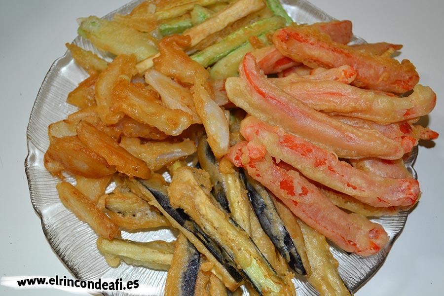 Verduras en tempura