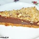 Tarta de Nocilla, queso Phidadelphia y avellanas