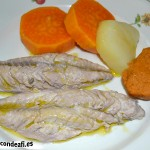 Filetes de caballas escabechadas