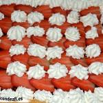 Hojaldre con fresas y nata