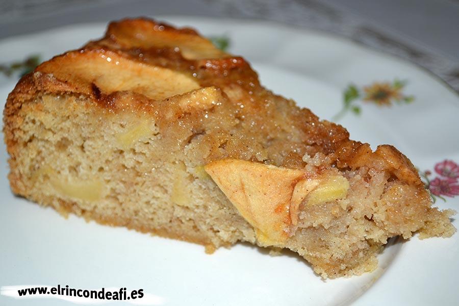Tarta de manzana con canela, sugerencia de presentación