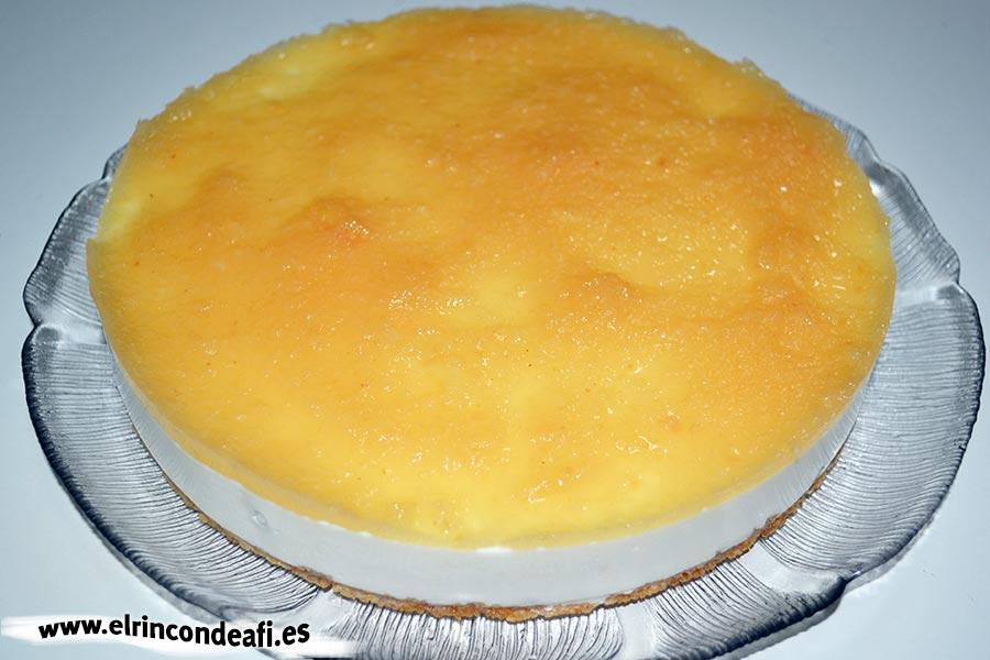 Tarta de queso con membrillo