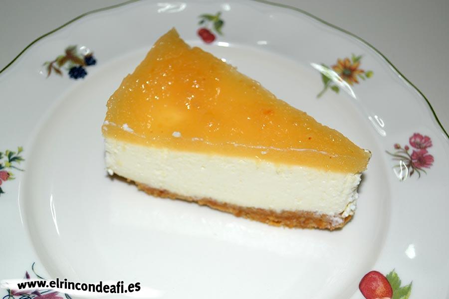 Tarta de queso con membrillo, sugerencia de presentación