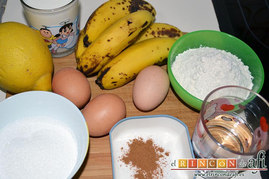 Tortitas de plátanos de Canarias, ingredientes
