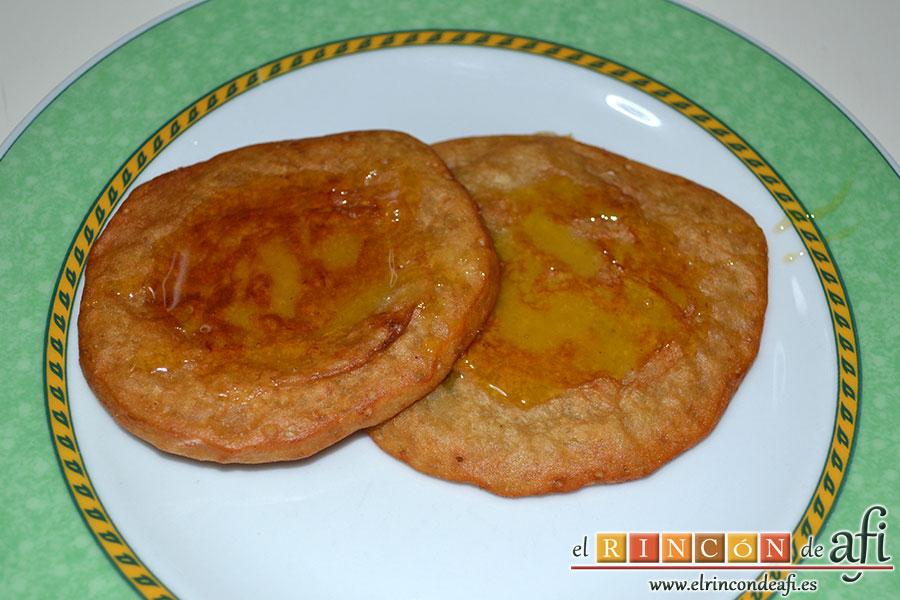 Tortitas de plátanos de Canarias, sugerencia de presentación