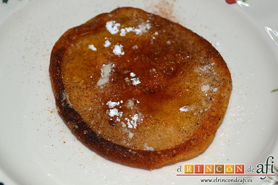 Tortitas de queso Ricotta y canela