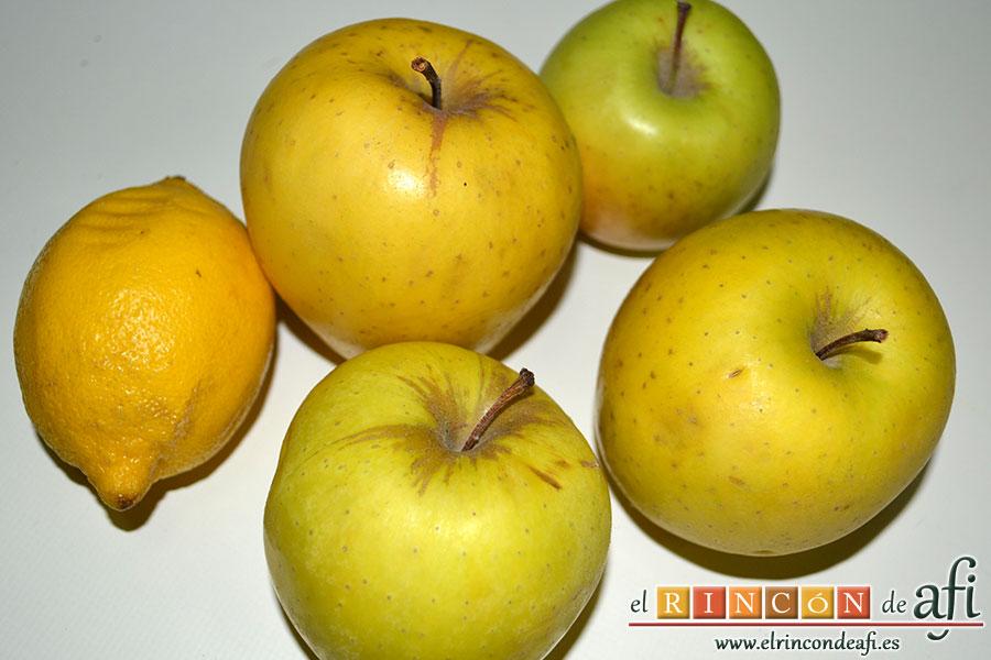 Manzanas al caramelo, manzanas para pelar y descorazonar