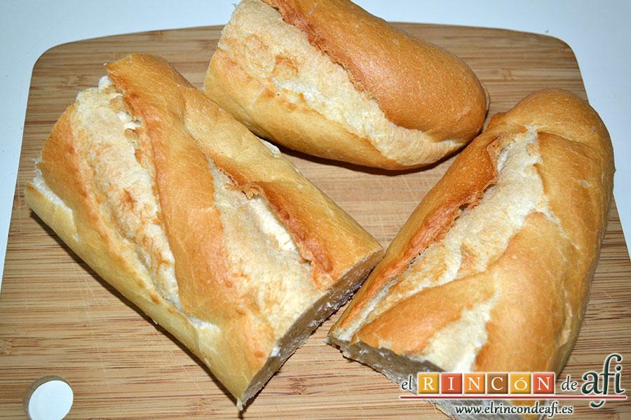 Pudin de pan, barra de pan