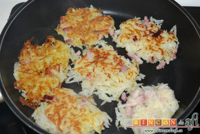 Rösti de papas y bacon
