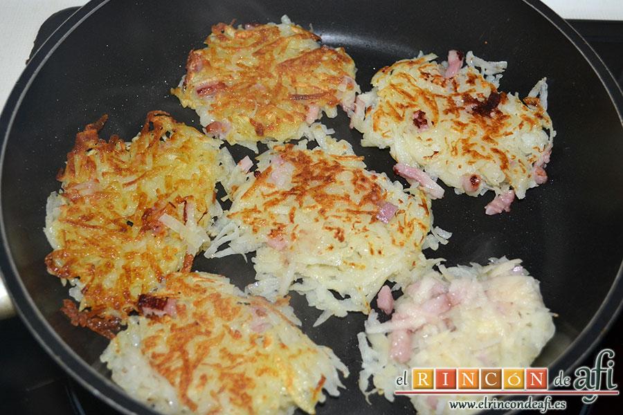 Rösti de papas y bacon