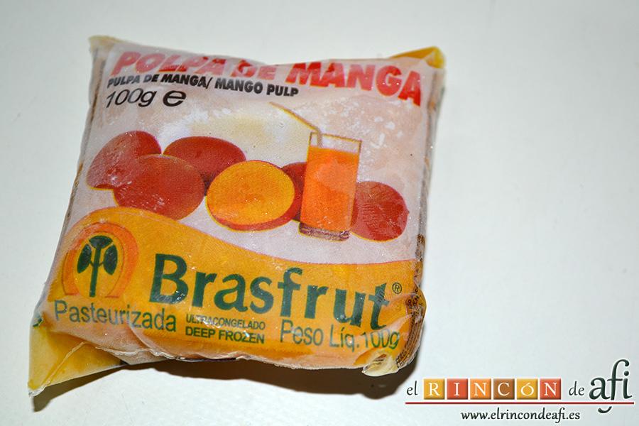Lassi, si no tienes mango natural, usa pulpa congelada