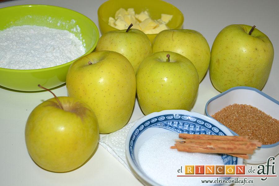 Crujiente de manzana, preparar los ingredientes