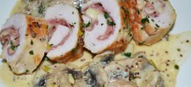 Pechuga de pavo rellena de bacon y mozzarella